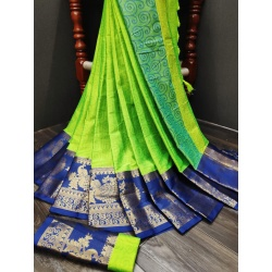 Madhu present Party wear cotton silk saree-:RH-00995-MADHU