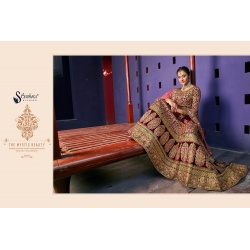 Bridal wear heavy work velvet  lehengha-2001-RK