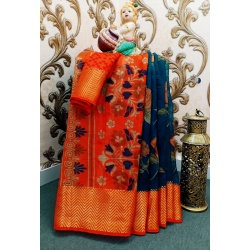 Party wear cotton soft Designer saree:RH-SC-055-D